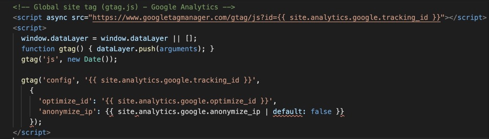Google Optimize gtag Script for Minimal Mistakes Jekyll site